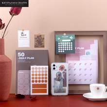 3 sztuk/zestaw 50Day Plan zestaw naklejek naklejki DIY INS stylowe Scrapbooking przybory szkolne papiernicze prezentowane przez Kevin & sasa rzemiosła