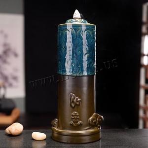 Image 2 - Monkey King Smoke Waterfall Censer Smoke Waterfall Ceramic Backflow Incense Burner Holder Creative Home Decor Gift Ornaments
