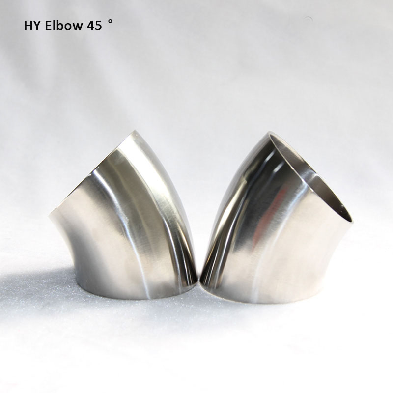 """Weld Elbow 45 degree  Stainless Steel 304 Sanitary  Elbow For Pipe Fitting Homebrew 1/2"""" 3/4"""" 1"""" 1.25"""" 1.5"""" 2"""""""