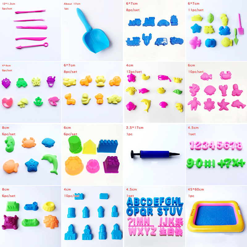 Magic Sand Mold Building Children Educational Play Space Sand Castle Toy Tool Set Play Dough Playdough Polymer Clay Model Tools
