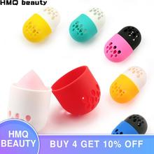 1 pcs makeup sponge holders puff Storage Box Capsule Unique Soft Silicone Breathable Cosmetic Sponge Drying Case Egg Puff Holder