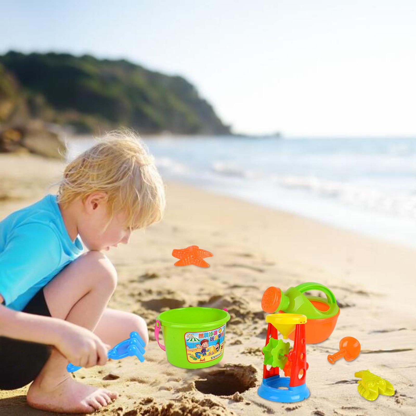 Beach Children's Toy Castle Bucket Shovel Spade Tool Toy And Sandbeach Kids Beach Toys Kids Children Beach Sand Dune Toys