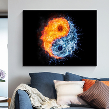 Abstract Fire and Water Canvas Painting Yin And Yang Art Posters and Prints Wall Decorative Picture for Living Room Home Decor predator movie figure artwork posters and prints wall art decorative picture canvas painting for living room home decor unframed
