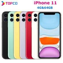 Apple – smartphone iPhone 11 débloqué en usine, téléphone portable, 4G LTE, écran de 6.1 pouces, hexa-core A13, double caméra de 12 mpx, 4 go de RAM, 64 go de ROM, NFC, double SIM/simple SIM