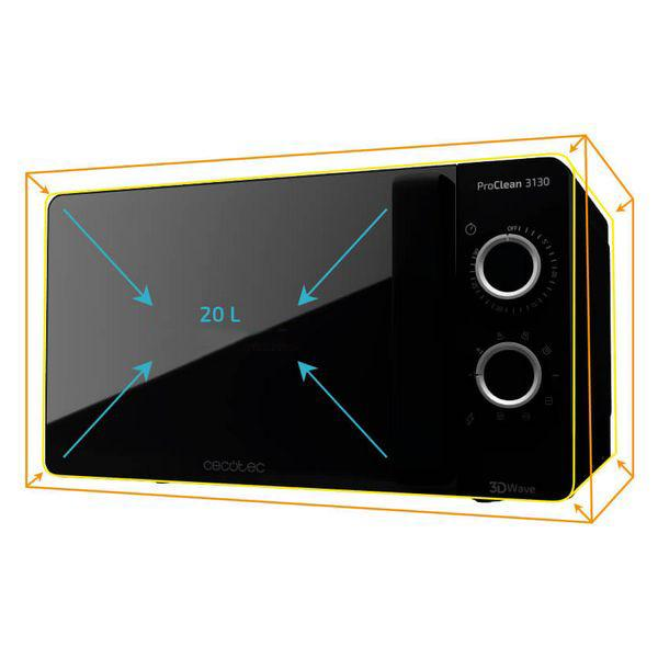 Microwave with Grill Cecotec ProClean 3130 20 L 700W Black