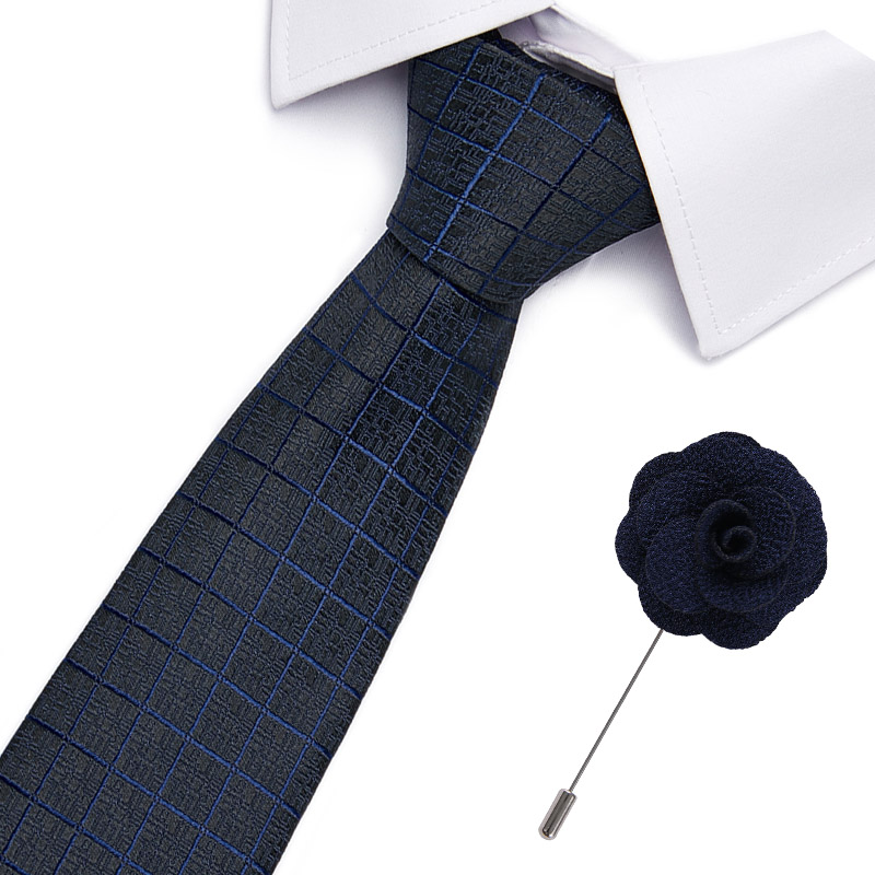 New Skinny Mens Ties Luxury Man Floral Dot Neckties Hombre 7.5 Cm Gravata Slim Tie Classic Business Casual Tie For Men