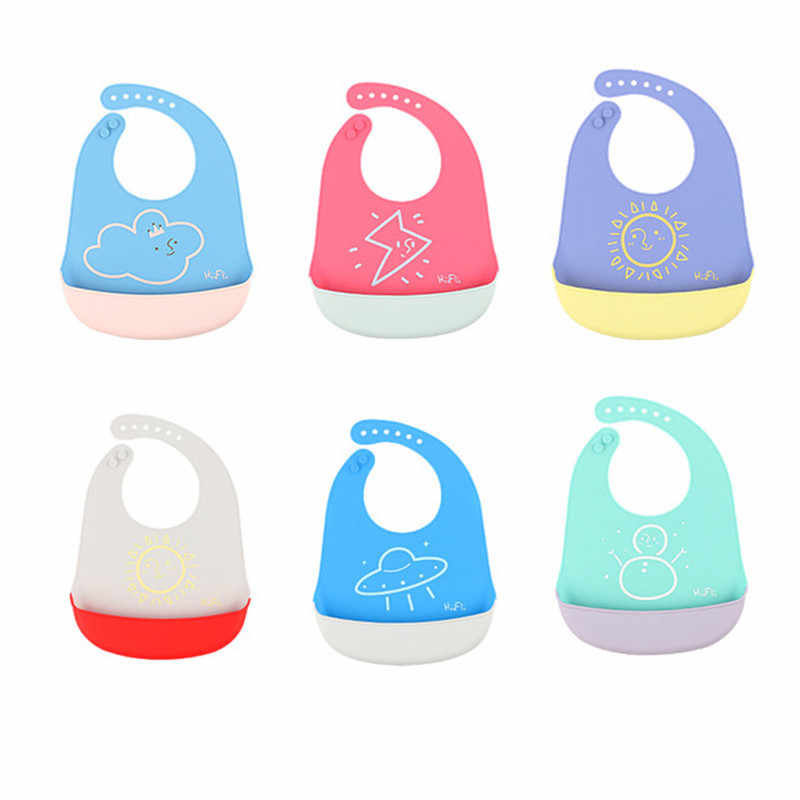 Bayi Bayi EVA Lap Feeding Bersendawa Kain Air Handuk Kartun Tahan Air Dicuci Anak-anak Apron Babador Bandana