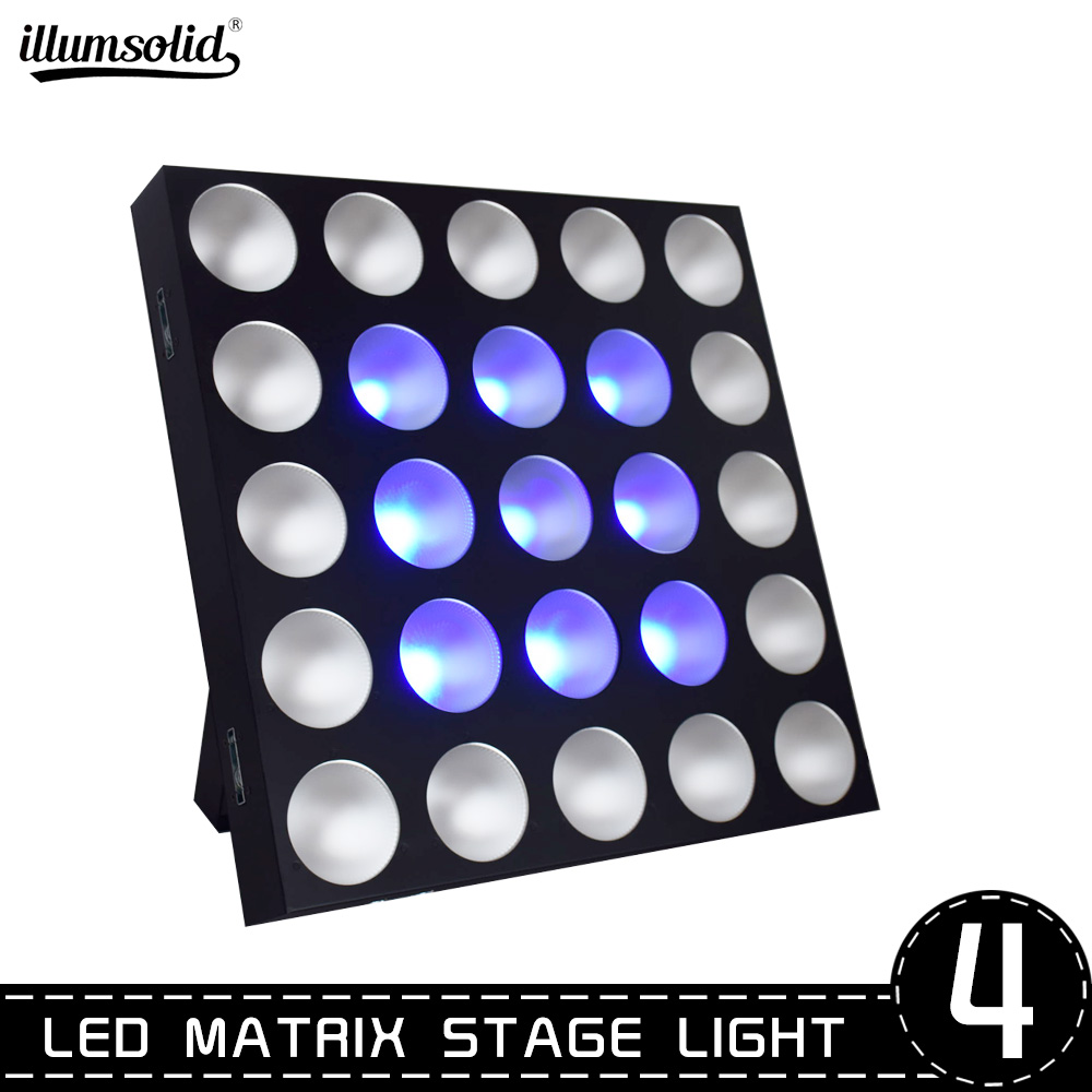 RGB COB Wall Washer Bar Light 25 Dot 4 Color Led Matrix Panel Dream Color Lighting For DJ Concert Home Party Stage Lighting 4pcs