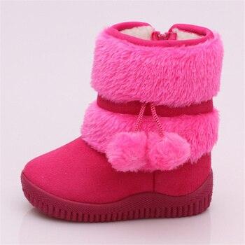 Обувь для девочек; зимние детские ботинки; уличные теплые плюшевые зимние ботинки; Повседневная обувь; детская обувь на плоской подошве; бот...