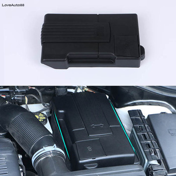 Car Battery Negative Protection Cover Engine Battery Protection Box For Volkswagen VW Tiguan MK2 2017 2018 2019 2020 Accessories image
