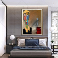 Abstract portrait Face Handpainted Oil painting Character figure on canvas wall Art picture for living room home decor