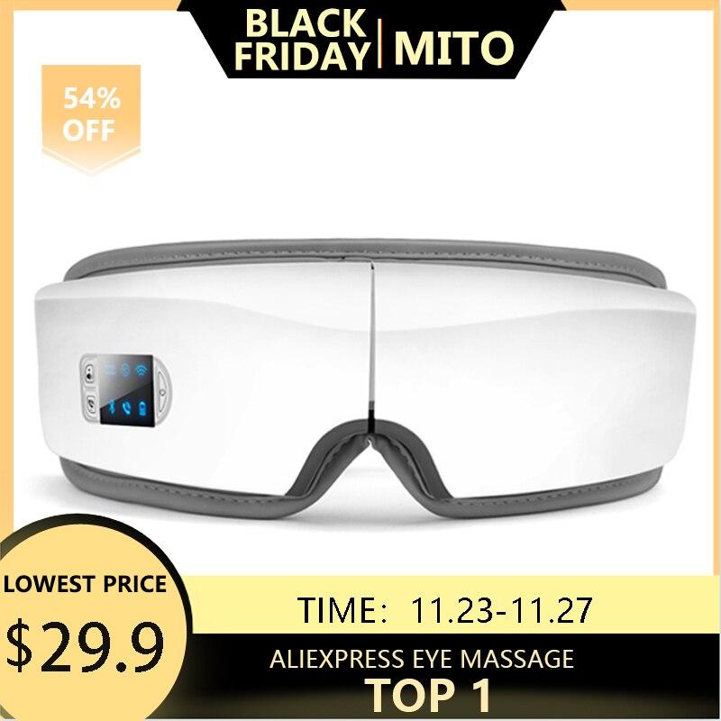 4D Smart Airbag Vibration Eye Massager Eye Care Instrument Hot Compress Bluetooth Eye Fatigue Massage Glasses Eye Massage Instrument  - AliExpress