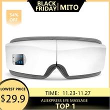 4Dスマートエアバッグ振動アイマッサージャー目のケア機器温湿布bluetooth目疲労マッサージメガネ