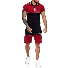 Summer New Sets Men's Sportswear Athletes Jersey Brand Printing Track And Field Jogging Wear Fashion T-Shirts & Sports Shorts
