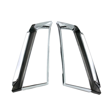 2Pcs Front Upper Grill Grilled Hood Cover Trims Fit for TOYOTA ALPHARD 2019 2020