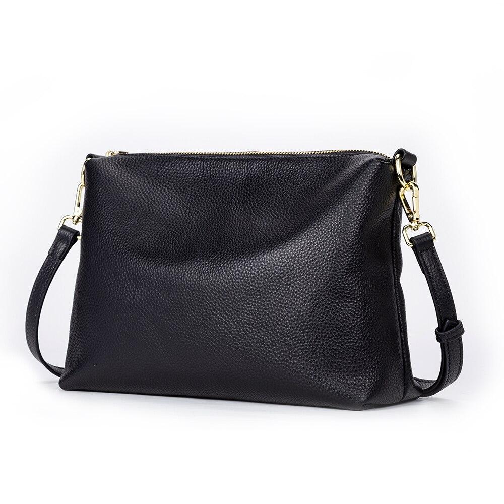 Gionar Women Shoulder Bag Genuine Leather Purses And Handbags Daily Black Crossbody Bags For Designer Luxury Messenger