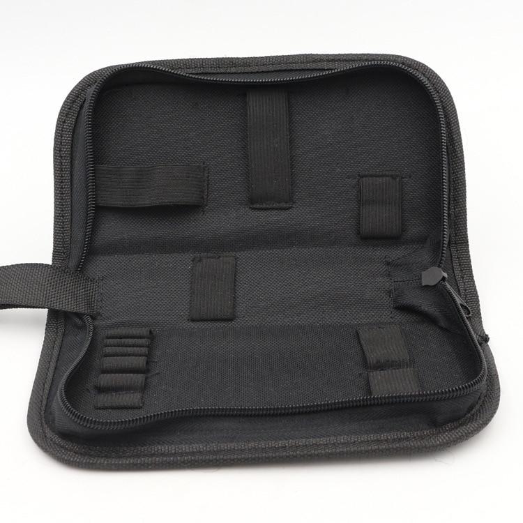Black Multi-functional Canvas Watch Repair Portable Tool Bag Zipper Storage M4YD