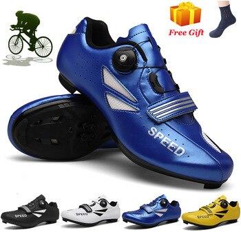 Original mtb ciclismo sapatos de fibra de carbono dos homens da bicicleta de estrada tênis de corrida sapatos femininos do esporte zapatillas mtb 1