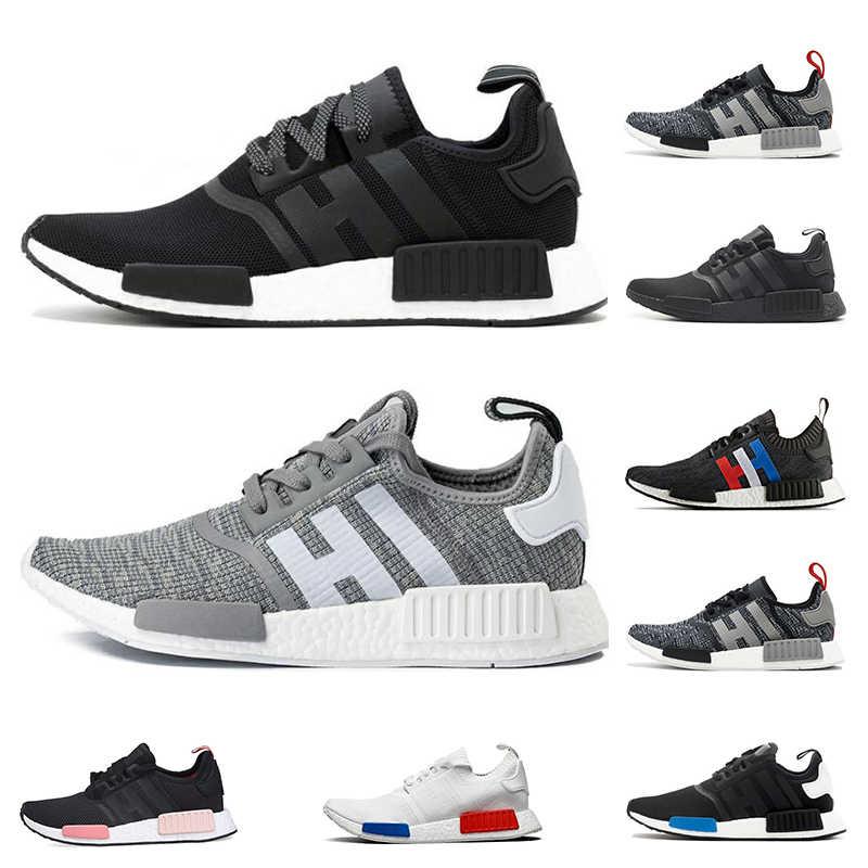 2020 R1 Primek klasik Oreo üçlü siyah beyaz pembe koşu ayakkabıları erkekler kadınlar için koşucu eğitmenler spor sneaker nefes