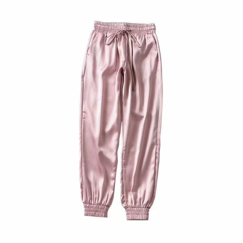 WOMEN'S Dress 2019 Summer New Style Athletic Pants Casual Harem Pants Silk Fabrics Running Fitness Trousers Women's