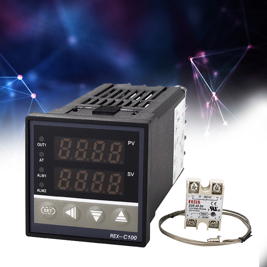 SSR-40 Relay V * AN REX-C100 PID Temperature Controller Switch Thermostat