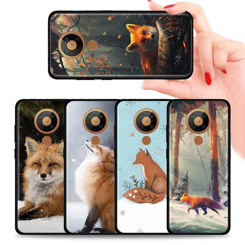 Arctic Fox Animal Silicone Phone Case For Nokia 2.2 2.3 3.2 4.2 7.2 1.3 5.3 8.3 2.4 3.4 C3 C2 1.4 5.4