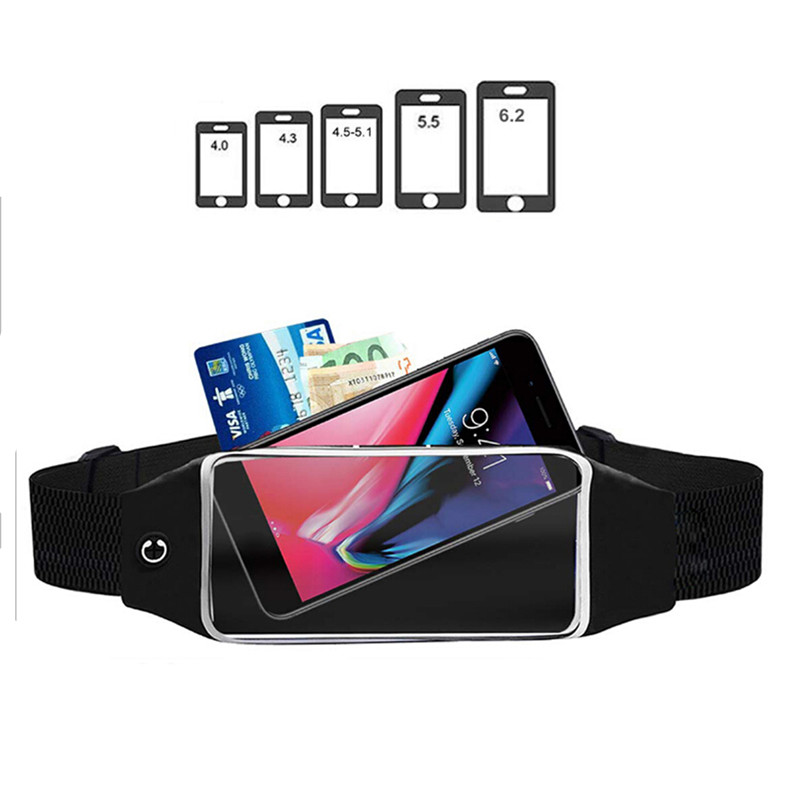 Women Men Waist Bag Sport Waist Bag Screen Touching Waterproof Running Belt Pouch Mobile Phone Holder Running Belt Waist Pack