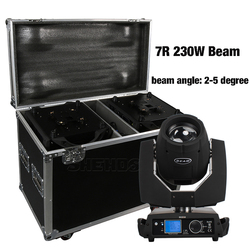 2PCS 7R 230W Moving Head Strahl mit Flug Fall Professionelle DJ DMX Bühne Beleuchtung Power IN/OUT touchscreen Sharpy Leier Disco