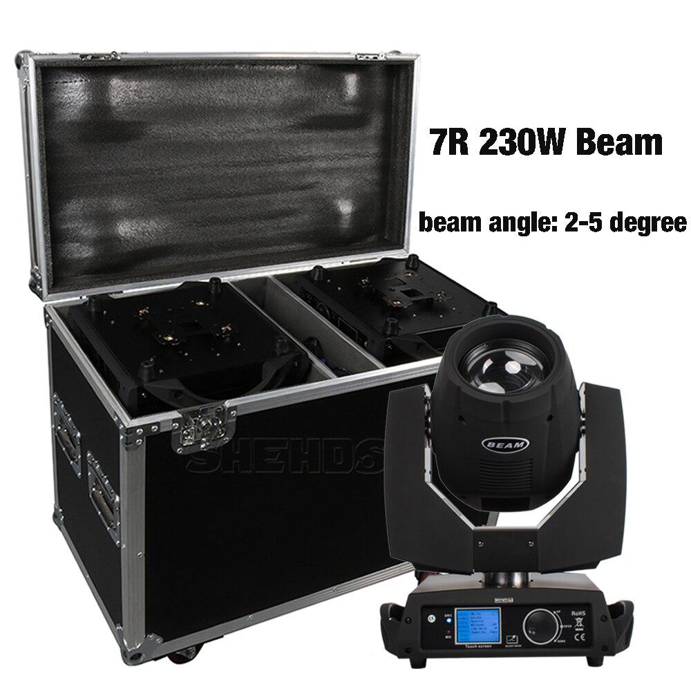 cabeca de movimento 7r 230w 2 pecas caixa de voo profissional dj dmx iluminacao de palco