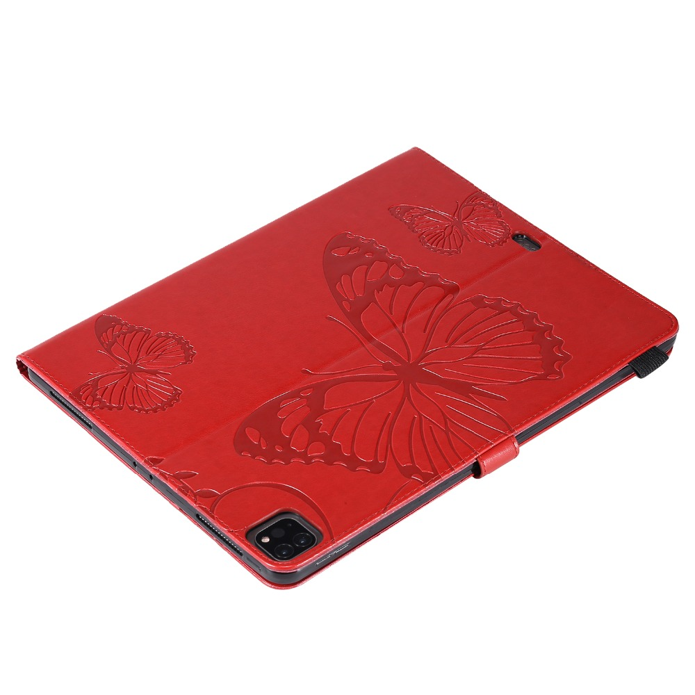 Folding Cover Pro For 2018 12.9 iPad Butterfly Fundas 2020 Embossed Case Folio Tablet
