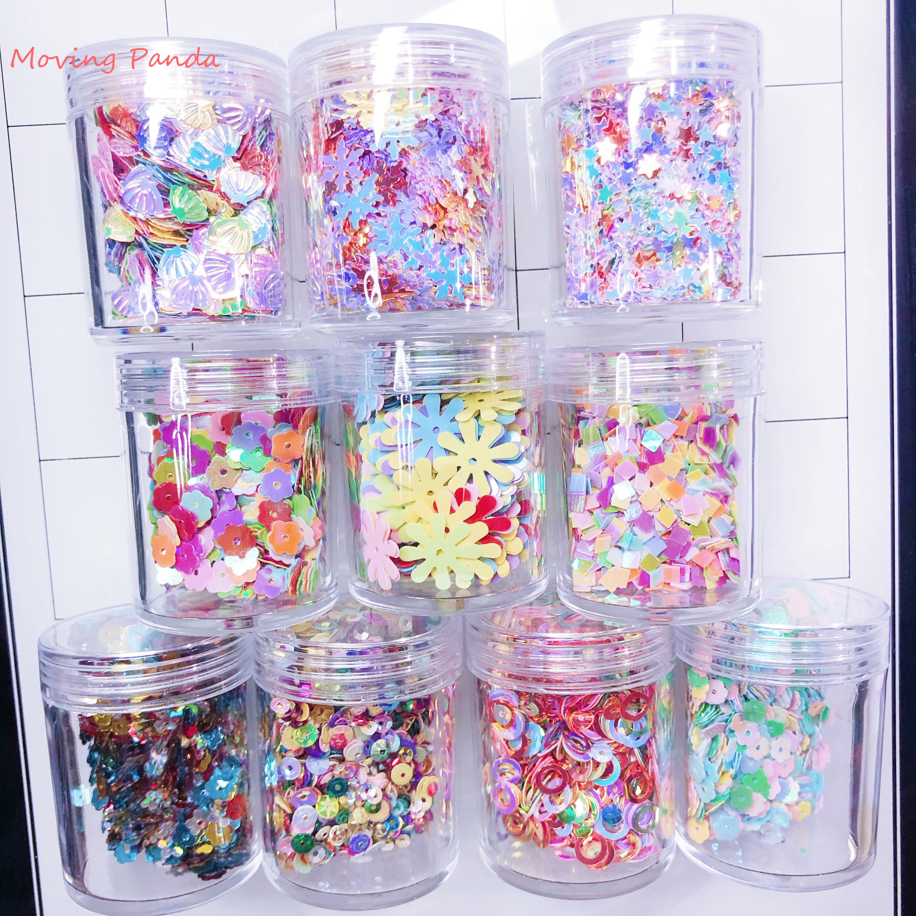 10g/bottle Sequins Sparking Glitter Papercard Decor Shaking Card Sequins Accessories Cutting Dies Stamps Embossing Decoration