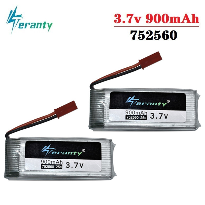 3.7V 900mah lipo Battery For X5 X5C X5SC 8807 8807W A6 A6W M68 Rc Quadcopter Spare Parts Accessories Drones battery <font><b>752560</b></font> 2Pcs image