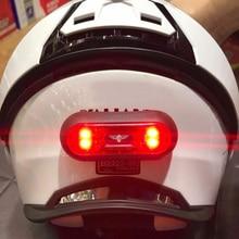 New Motorcycle Helmet Night Light Cycling Strip Safety Signal Warning Light Univ