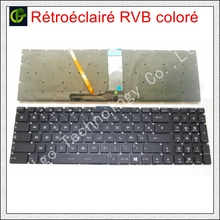 Francese Azerty RGB retroilluminato Tastiera colorata per MSI GT62 GT72 GE62 GE72 GS60 GS70 GL62 GL72 GP62 GT72S CX62 GL63 GL73 GS72V FR