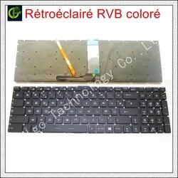 Цветная клавиатура с французской RGB-подсветкой Azerty для MSI GT62, GT72, GE62, GE72, GS60, GS70, GL62, GL72, GP62, GT72S, CX62, GL63, GL73, GS72V, FR