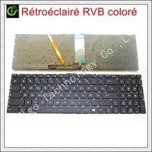 لوحة مفاتيح ملونة بإضاءة خلفية RGB فرنسية اللون لـ MSI GT62 GT72 GE62 GE72 GS60 GS70 GL62 GL72 GP62 GT72S CX62 GL63 GL73 GS72V FR