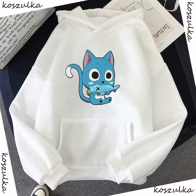 Japanese Anime Fairy Tail Hoodie Women Hoodies Casual Pullover Hoodied Harajuku Sweatshirt Plus Size Hoody 5
