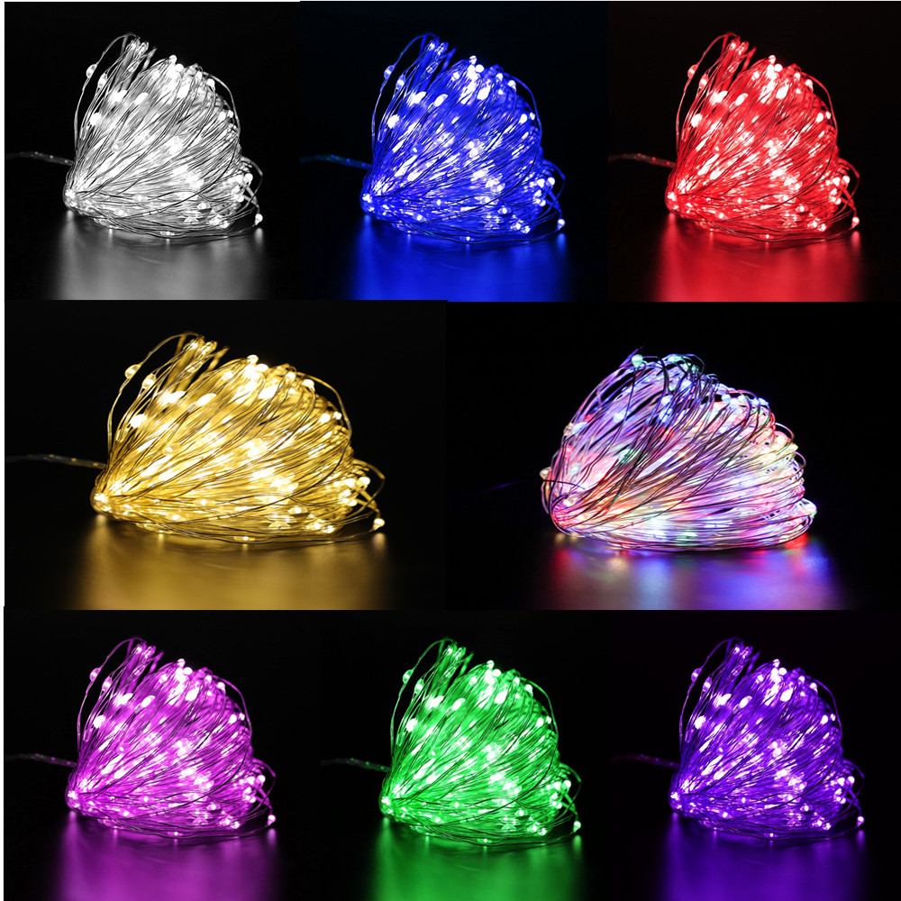 Christmas Decorations for Home 1m/2m/3m/5m/10m LED String Light Flash Fairy Garland Happy New Year 2021 Kerst Noel Navidad 2020
