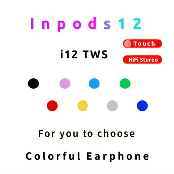 Original i12 TWS Pro Bluetooth 5.0 Wireless Earphones HIFI Stereo Headsets Wireless Earbuds For Smart Phone pk i7s i11 i30 TWS image