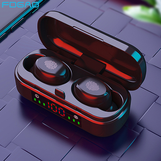 TWS Wireless Earphones For Bluetooth Earphone 9D Bass Stereo Waterproof Earbuds Handsfree Headset With Microphone Charging Case 1
