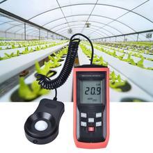 0-100000Lx ручной измеритель блеска фотометр цифровой светильник Люксметр измеритель освещенности фотометр фотодdiode с фильтром объектива