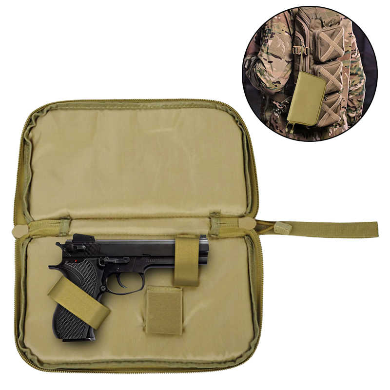 Tactical Pistol Carry Bag Gun Case Portable Holster Military Handgun Carrier Pouch Soft Protection Gun Accessories Hunting