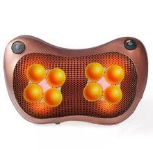 цена на Shiatsu Massage Pillow foot Massager for back neck relax electric massager body Infrared Heating Shiatsu Massage tools