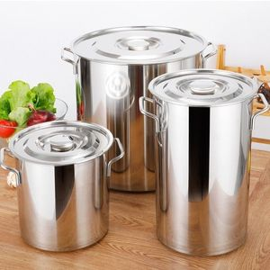 Çorba kovası paslanmaz çelik varil çorba tenceresi mutfak tencere şef ev su pirinç lareg kapasiteli indüksiyon ocak yağ bidonu