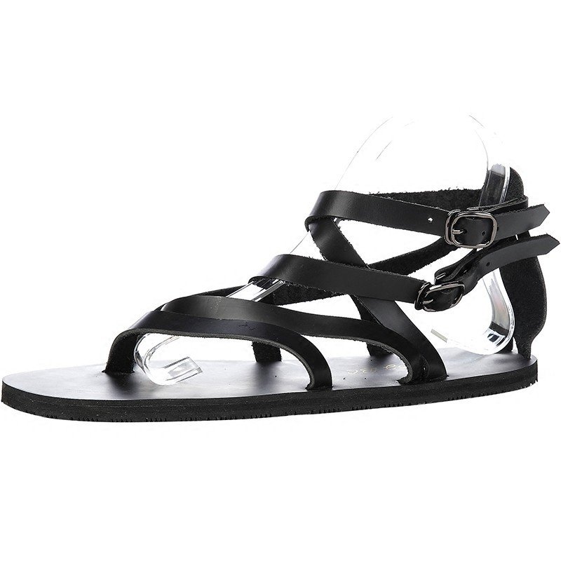 2020 Summer Cross Straps Genuine Leather Sandals Vietnam Mens Casual Flats Flip Flops Beach Sandals Streetwear Gladiator Shoes