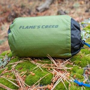 Image 5 - Flames信条超軽量タープ軽量ミニ太陽の避難所のキャンプマットテントフットプリント15Dナイロンシリコーン160グラムテンダパラカルロ
