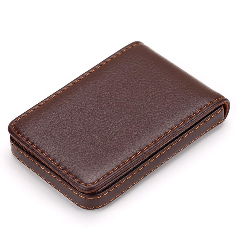 Leather Organizer Business RFID Credit Card Holder Cowhide Minimalist Women Travel Card Bag Men Small Wallet