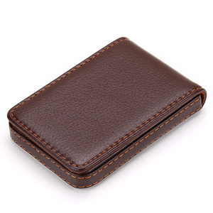 Leather Organizer Business RFID Credit Card Holder Cowhide Minimalist Women Travel Card Bag Men Small Wallet