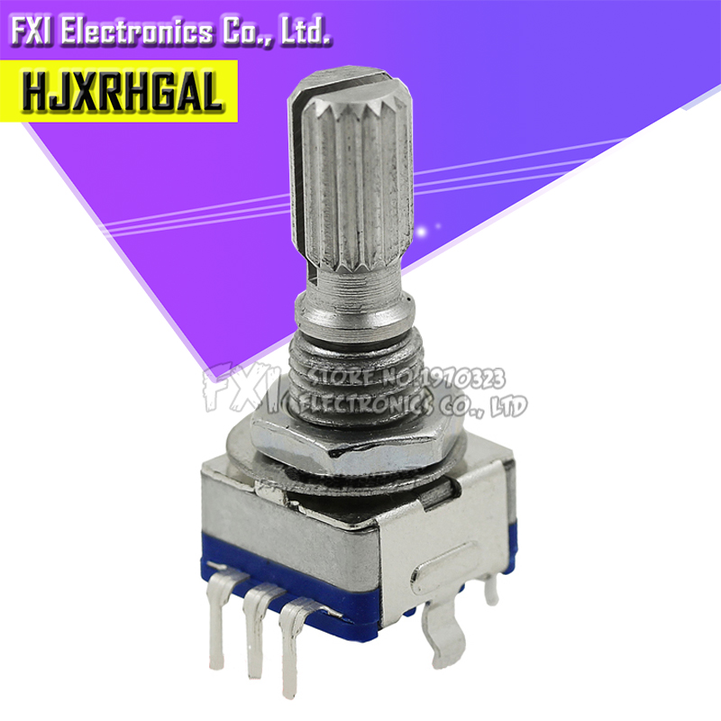 5PCS Rotary Encoder With Switch EC11 Audio Digital Potentiometer Handle WH W  Fw