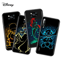 Elsa Ariel Princesa para Xiaomi Poco X3 NFC M2 X2 F2 F3 C3 M3 F1 Pro Mi juego de mezcla de 3 A3 A2 A1 6 Lite funda de teléfono suave